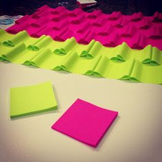 Use post it notes to make a super cool backdrop!