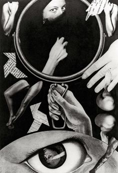 Claude Cahun  Aveux non avenus, planche III  1929 – 1930  Gelatin silver print photomontage  15 x 10 cm  Private collection