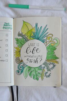 Bujo Addicts of the world, April's here and this only means one thing: a brand new bujo layout. Let's set up my tropical leaves bullet journal together! Bullet Journal Set Up, Bullet Journal Themes, Color Crayons, Tropical Leaves, Journal Ideas, Bujo, Things To Come, Lily, Colours