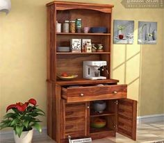 Get Beautiful Designs Of Hutch Cabinets Online At Wooden Street This Cabinet Is An