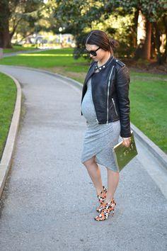 Edgy maternity style