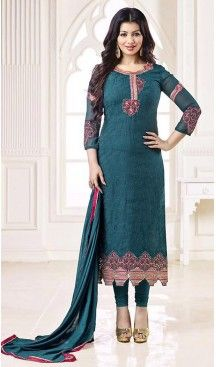 Steel Blue Color Georgette Evening Wear Style Stittched Churidar Kameez #pakistani , #evening , #dress , #heenastyle , #party , #wear , #anarkali , #salwar , #kameez , #dupatta , #churidar , #suit , #fashion , #online , #shopping , #casual , #designer , @heenastyle , #store, #shop , #boutique , #straight , #georgette , #fabric , #readymade #ethinic #formal , #punjabi , #patiyala , #gowns , #plazzo