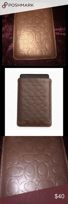 Coach Tablet Cover This is an authentic coach tablet cover should fit a 7'' tablet. Cover measures 8'' by 5 1/2'' Coach Accessories Tablet Cases