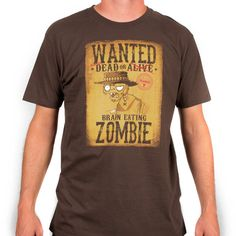 Plants vs. Zombies Store: Wanted Zombie T-Shirt - Apparel