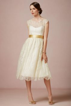 bhldn.com  Sophisticated short wedding dress for casual or courthouse weddings