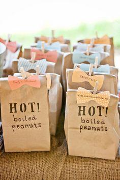 Southern wedding idea: Peanut favors! | Brides.com
