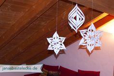 12 Tage Weihnachten 2014 - 3D Schneeflocken aus Papier - mit Anleitungsvideo