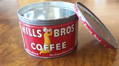 1950s Hills Bros Coffee Tin by 3LittleWitches on Etsy