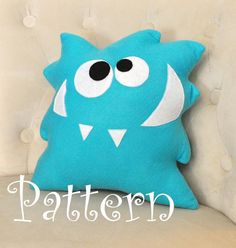 Monster Plush Pattern PDF Tutorial and Printable Templates -Nom Nom Monster Pillow Pattern-. $4.99, via Etsy.