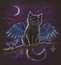 Cat Art...=^.^=...♥ ...By Artist Unknown...
