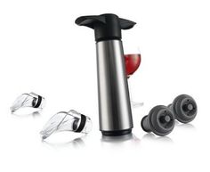 This beautiful stainless steel wine saver kit would make a great gift!