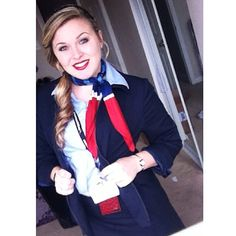 American Airlines Stewardess. Time to fly✈️ #FlightAttendantLife #TooStokedToWork #CareerSelfie