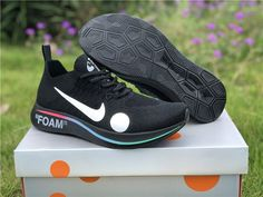 a36795ab9b51 Off-White x Nike Zoom Fly Mercurial Flyknit Black Volt White For Sale