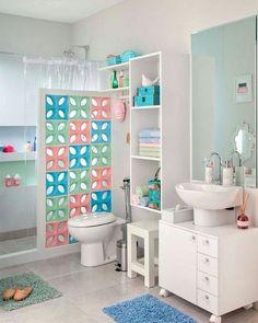 Cobogós Via pinterest. #candycolor #estilocandycolor #inspiracao #interiordesign #home #homedesign #designdeinteriores #cobogo #banheiro #bathroom #tomazampinteriores #estilododiatomazamp by tomazamp_interiores http://discoverdmci.com