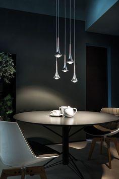 Rain pendant lamp by Studio Italia Design - The hanging lamp Rain by Studio Italia Design is suitable as counter lighting, table lighting, beds - Home Lighting Design, Modern Lighting, Direct Lighting, Cool Lighting, Italia Design, Multi Light Pendant, Round Pendant, Luminaire Design, Wallpaper Decor