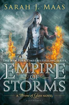 Sarah J Maas//Empire of Storms. OMG the cover art for the next book is finally out! Counting down til September! :)