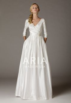 Carissa Silk Shantung Wedding Gown By Ariabrides On Etsy Dress Finder With