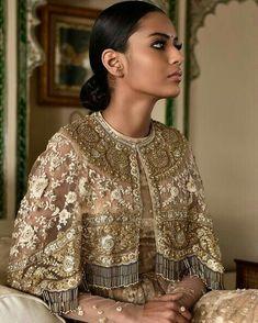 Trendy ideas for sabyasachi bridal couture indian Indian Bridal Couture, Pakistani Couture, Pakistani Dresses, Indian Dresses, Indian Outfits, Hijab Style, Desi Clothes, Cape Dress, Sabyasachi