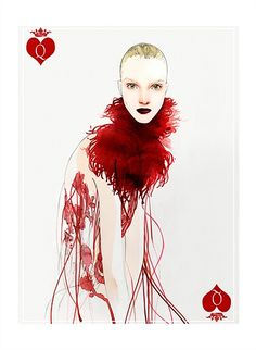 Winter fashions for WQueen of Hearts Alexander McQueen by Nuno DaCosta