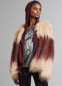 Odd Molly Fake Fur Jakke 717T-858 Staying Alive Jacket - faded ruby