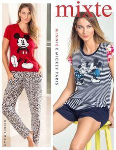 Mickey e Minnie Milan e Paris. Da passarela para o aconchego sem escalas! #ultimolookdodia #lindaemcasa #pijamas #modaintima #springsummer2016 #conforto #mulher #woman #primaveraverano2016