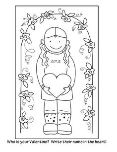 "Valentine Activity Coloring Pages ""Who Is Your Valentine?""  This is part of a four page set of original printables perfect for the holiday."