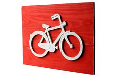 33x23 Bike Sign, Barwood Red Slippin Southern Gregory Morris