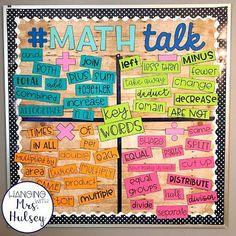 Math Talk: Editable Bulletin Board Kit Bundle - Domains - Ideas of Domains - Fourth Grade Math, 3rd Grade Classroom, Second Grade Math, Future Classroom, Third Grade Writing, Sixth Grade, Grade 3, School Classroom, Math Wall