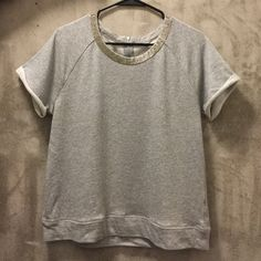 Sparkle Sweatshirt Tee Worn twice and dry cleaned once! Beautiful, Elevated Knit Tee  Runs on the smaller side as well Madewell Tops Tees - Short Sleeve