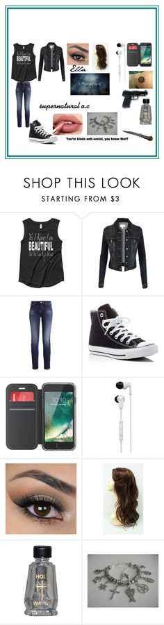 """""""supernatural"""" by cieradumond on Polyvore featuring LE3NO, Converse, Griffin, Skullcandy and All Black"""