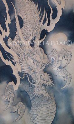 Chris Garver dragon painting