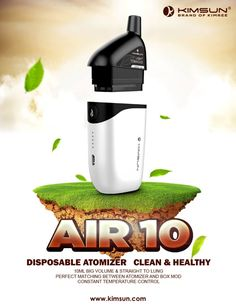 kimsunair10: features disposable STL atomizer with vacuum design, 10ml volume for long vaping~ http://www.kimsun.com/product/air-10/ email:sales@kimsun.com #kimsunair10#kimsun#kimsunvapor#all-in=one style