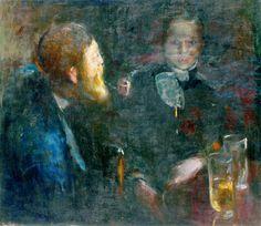 Edvard Munch - Tête-à-Tête [1885] Oslo