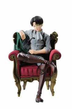 Attack on Titan ~~ Levi in that chair from the women's fashion magazine