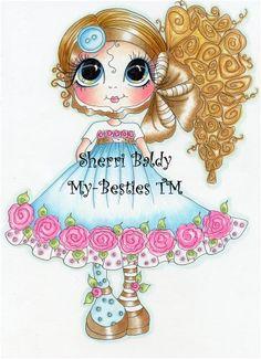Sherri Baldy Besties | My-Besties Buttons & Roses Sherri Baldy Fine Art Prints-