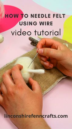 Using wire for needle felting can feel a little daunting, especially if you are new to needle felting, but it's really easy and this quick tutorial will show you how. Wool Needle Felting, Needle Felting Tutorials, Needle Felted Animals, Wet Felting, Felt Animals, Needle Felting Supplies, Felted Wool Crafts, Felt Crafts, Fabric Crafts