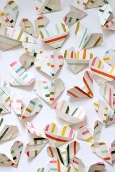 hearts origami