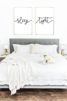 Sleep Tight Wall Decor Print Set - Normal / A3 / Frame Not Included