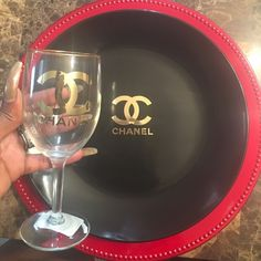 Set your table in an nice romantic way for valentine an watch him be super impressed! From the designer labels an that nice sexy outfit that can be purchased in my closet as well!! Wow  him this year around!!! Chanel plates, coffee mugs an wine glasses