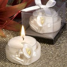 Calla Lily Tealight Holder Favors