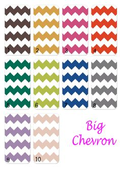 Available Big Chevron Colors