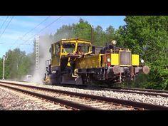 Капитальный ремонт ж.д. часть 5/8 - Планировщик балласта / Track repair 5/8 - Ballast distributing - YouTube