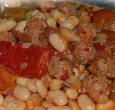 Köfteli Kuru Fasulye) Meatballs Beans