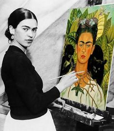 """""""I was born a bitch. I was born a painter"""" - Frida Kahlo. """" I paint self-portraits because I am so often alone,because I am the person I know best""""- Frida Kahlo Diego Rivera, Frida E Diego, Frida Art, Frida Kahlo Artwork, Frida Kahlo Portraits, Mexican Art, Famous Artists, Most Famous Paintings, Best Female Artists"""