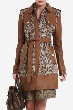 trench coat- blake leopard