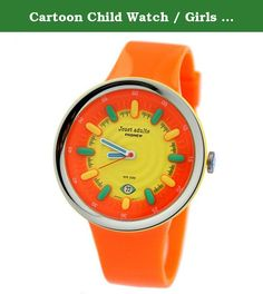 Cartoon Child Watch / Girls Boys Student Watch / Sports Watches / Jelly Watch-Orange 1. Watches Mirror Material: plexiglass mirror Movement Type: Quartz Watch Watch Type: Neutral Style: Cute Strap Material: Rubber Shape: Round Display : Analog waterproof depth: 30 meters life waterproof additional features: calendar table debit formula: buckle bottom of the table type: crown type: Normal dial thickness: 10.8mm dial diameter: 42mm pop elements: jelly case material: other 100% brand new…