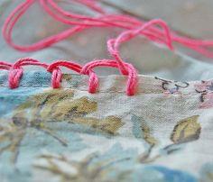 blanket stitching pillowcase...