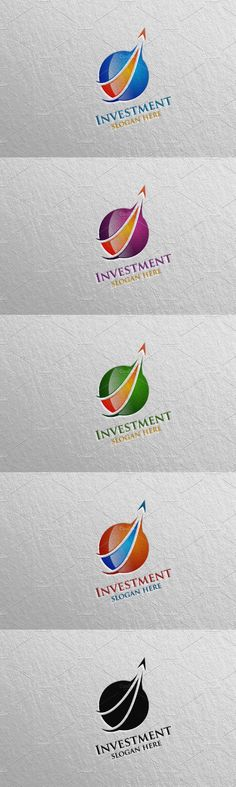 Vector Logo Design, Logo Design Template, Logo Templates, Financial Logo, Slogan, Investing, Marketing