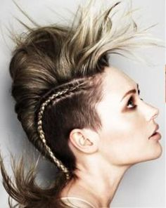 Can't get enough of mohawk hair styles.