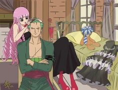 Funny Zoro wiTh Perona http://opheaven.blogspot.com/2012/11/one-piece-quotes.html?m=1